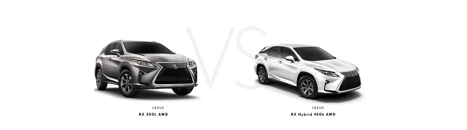Lexus RX 350L vs RX 450h