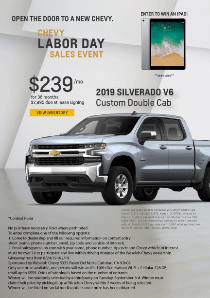 Chevrolet Dealer Carlsbad CA New & Used Cars for Sale near