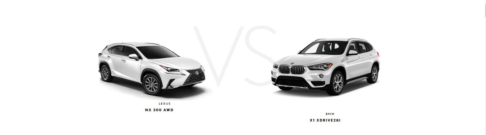 2019 Lexus NX vs. 2019 BMW X1