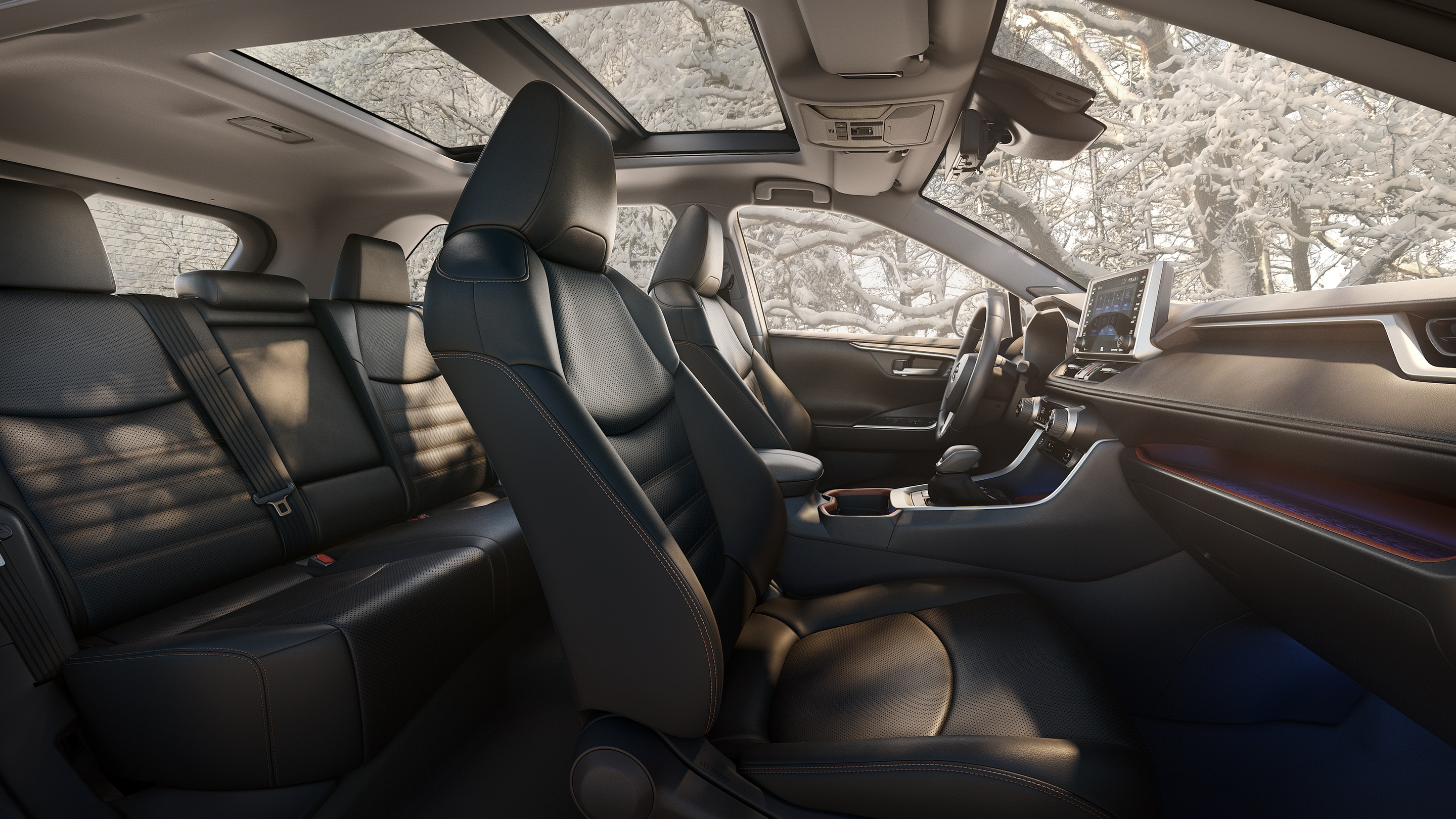Spacious Cabin of the 2019 RAV4