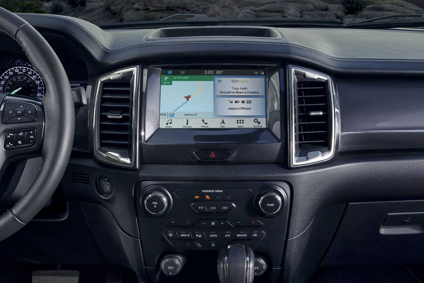 Infotainment in the 2019 Ranger