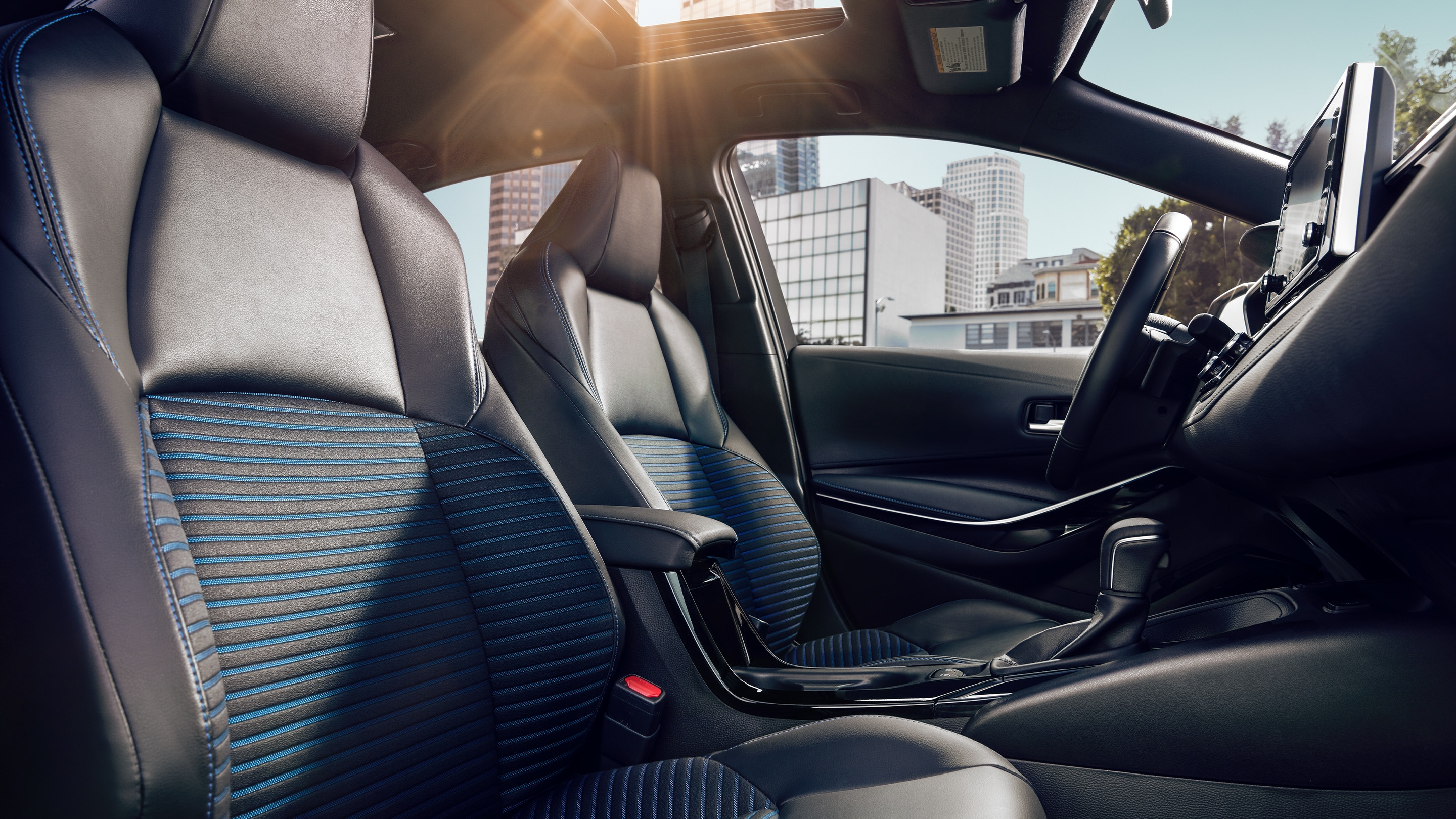 The Sporty Interior of the 2020 Corolla
