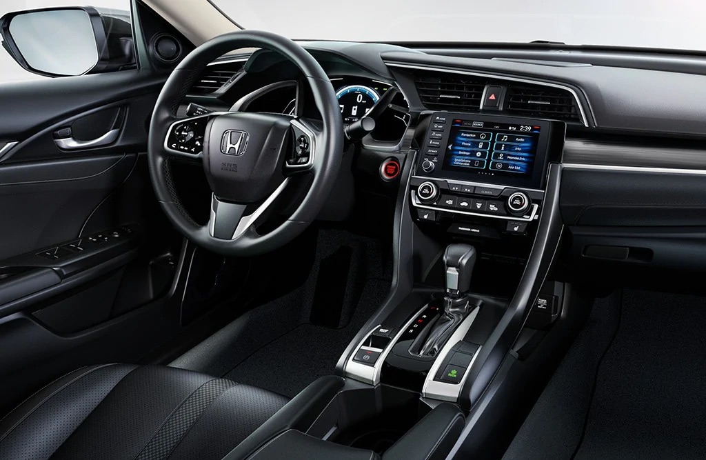 Moderno interior del Honda Civic 2019