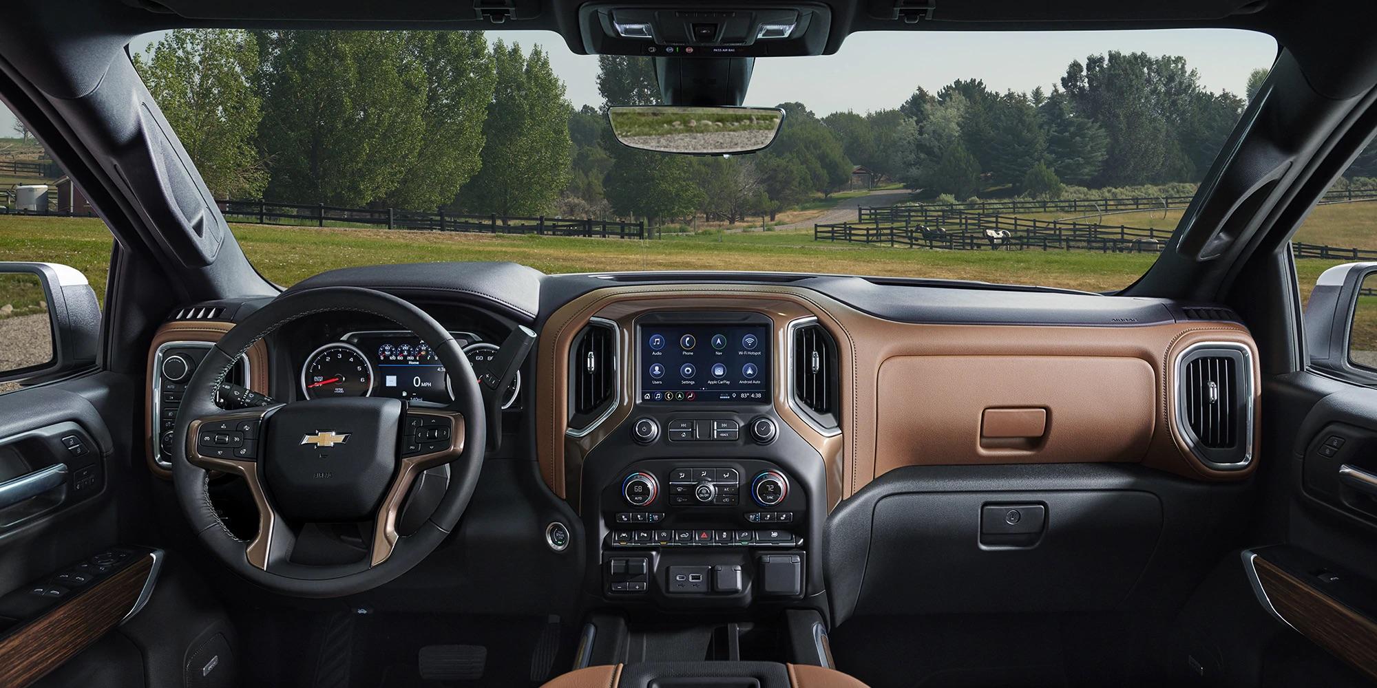 Interior de la Chevrolet Silverado 1500 2019