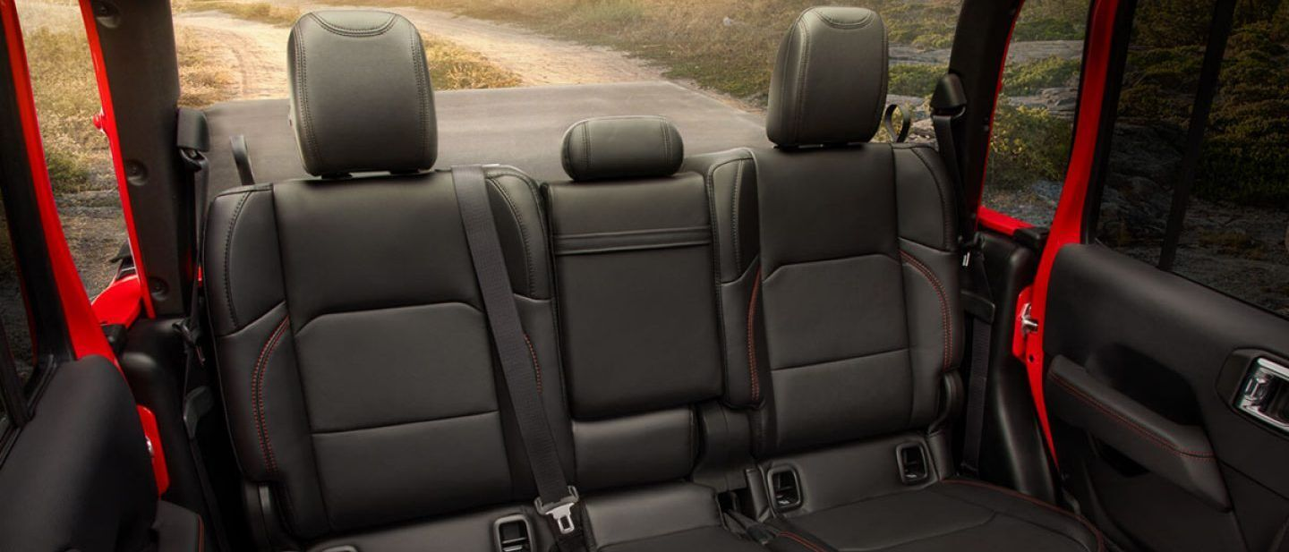 Cozy Rear Seats in the 2020 Gladiator