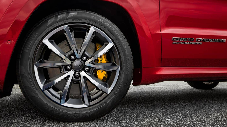 Optional Brembo® Brakes on the 2019 Grand Cherokee