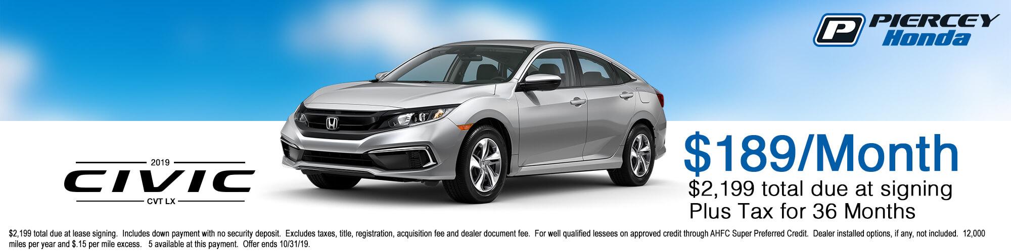 2019 Honda Civic Special Offer