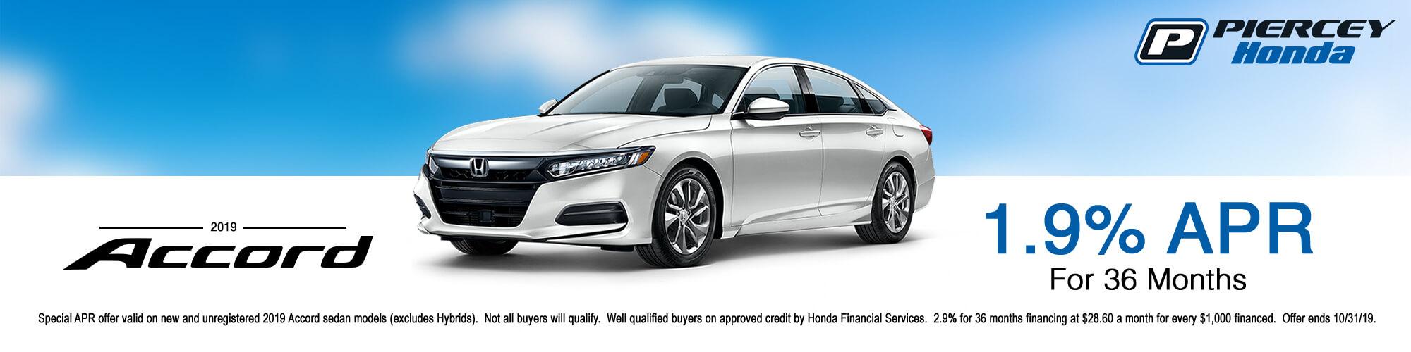 2019 Honda Accord APR Offer