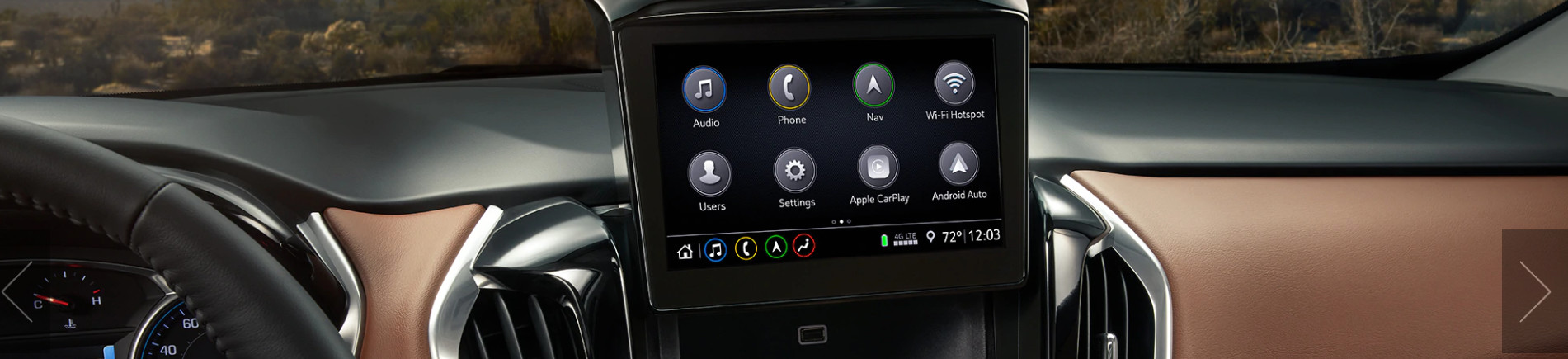 Touchscreen in the 2020 Traverse