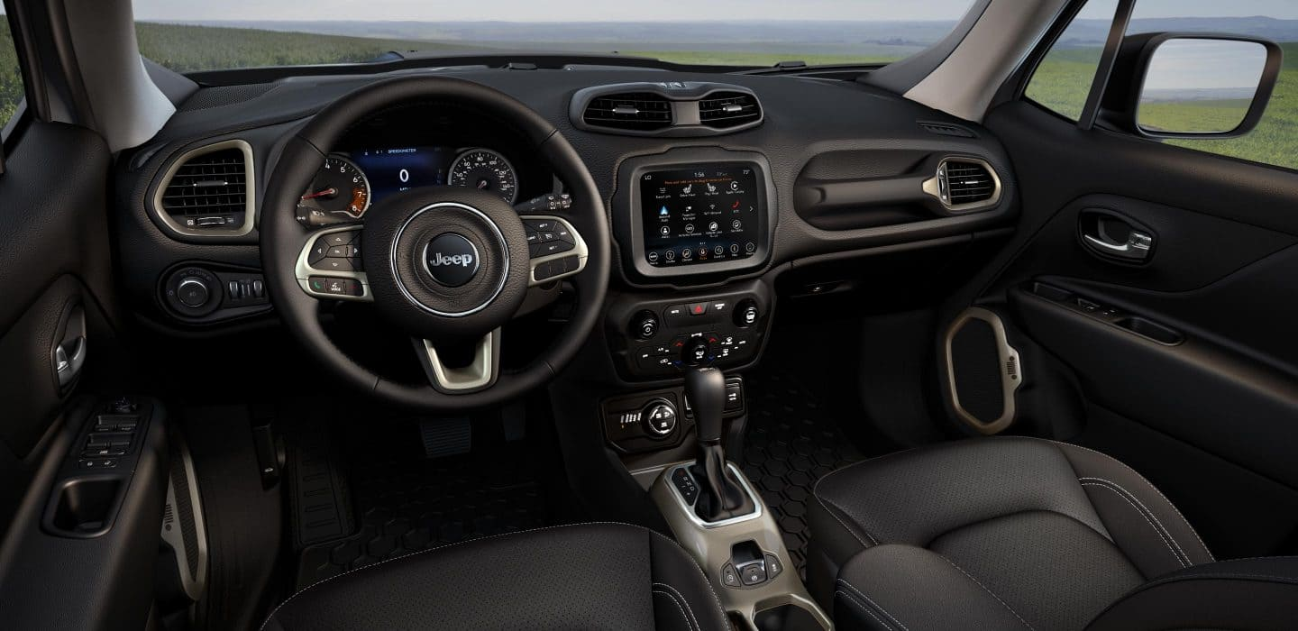 Interior of the 2019 Jeep Renegade