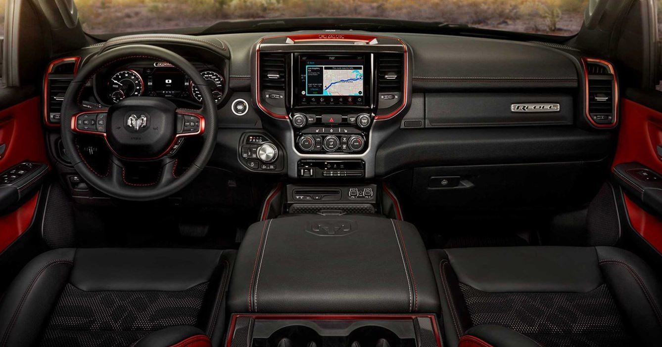 Interior of the 2019 Ram 1500