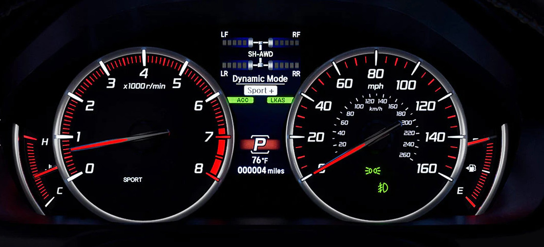 Instrument Panel of the 2020 Acura TLX