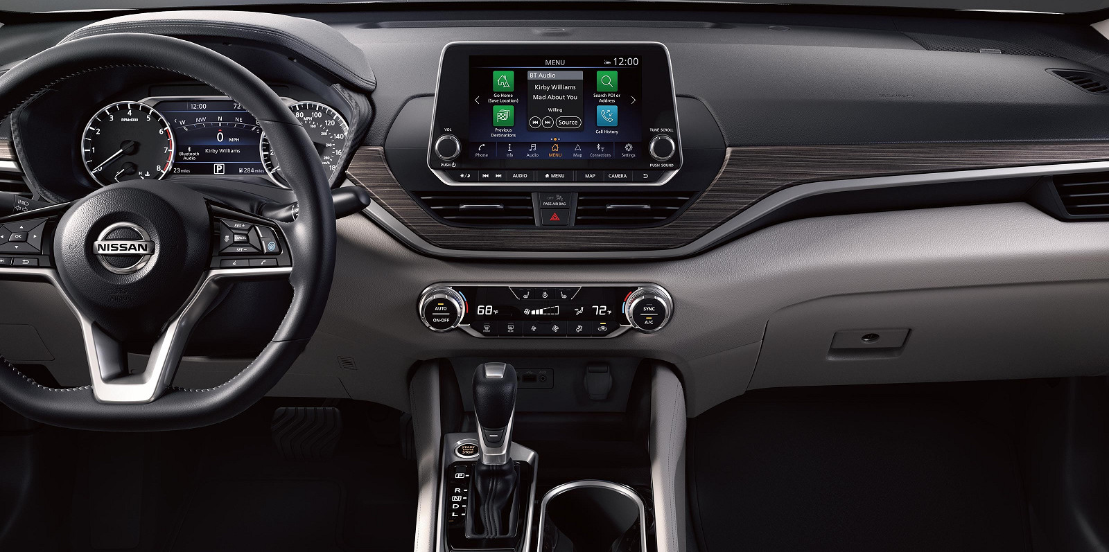 Tech-Loaded Interior of the 2020 Nissan Altima