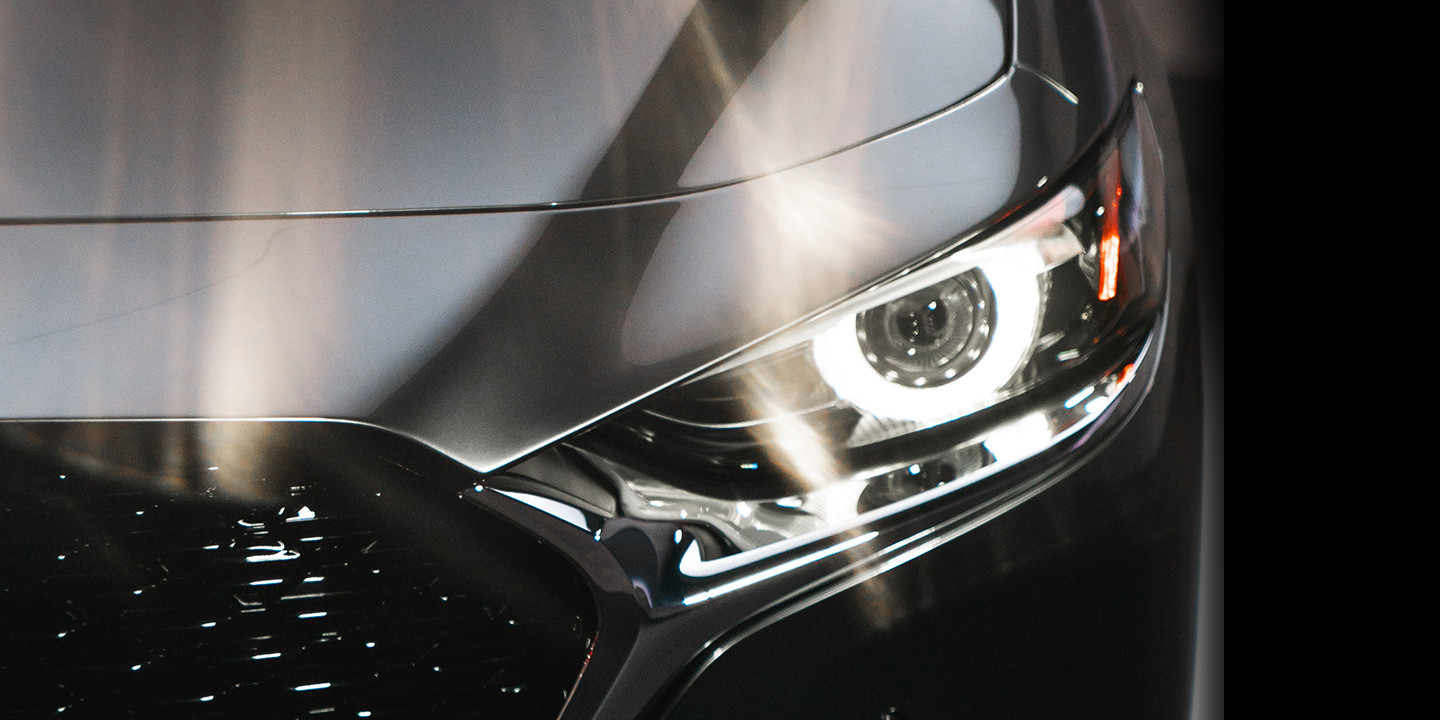 Adaptive Front-lighting System of the 2019 Mazda3 Sedan