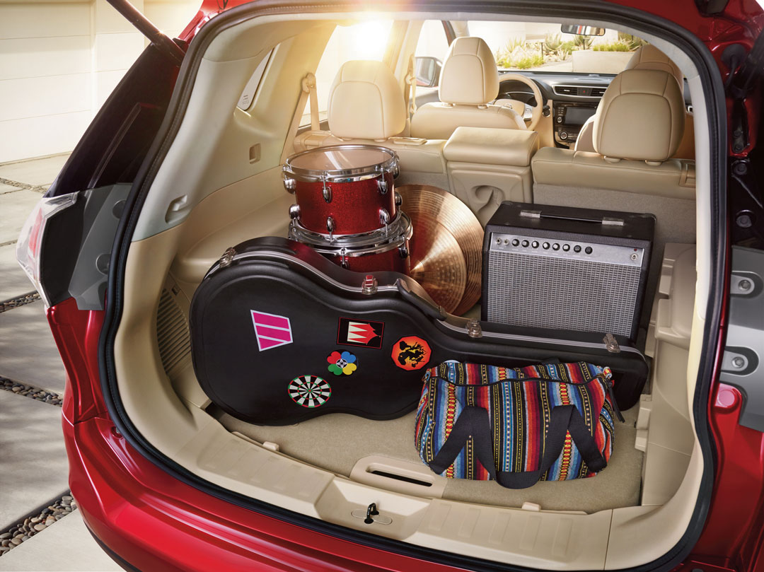 Trunk with musical instruments inside