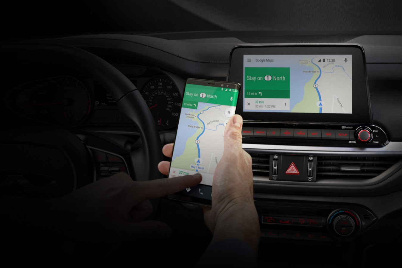 Android Auto in the 2020 Forte