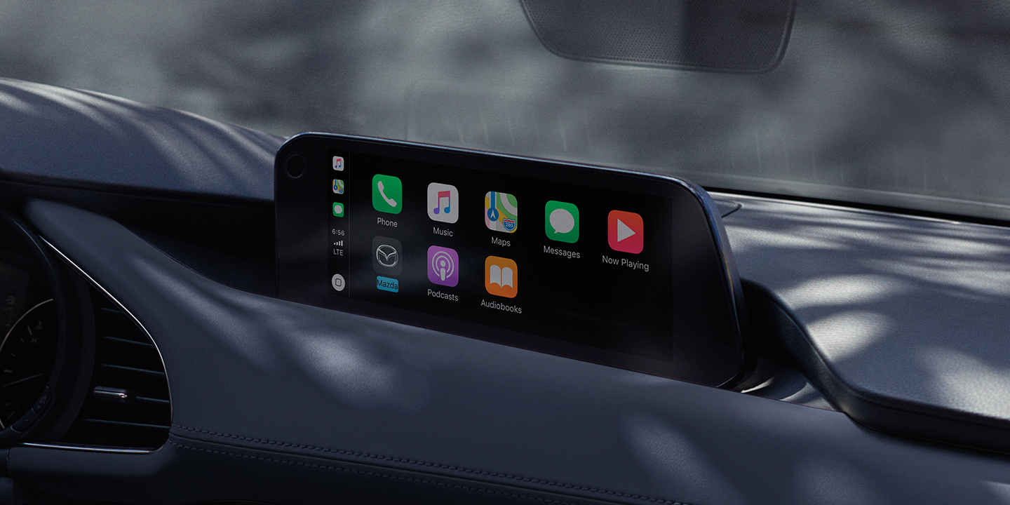 Touchscreen in the 2019 Mazda3 Hatchback