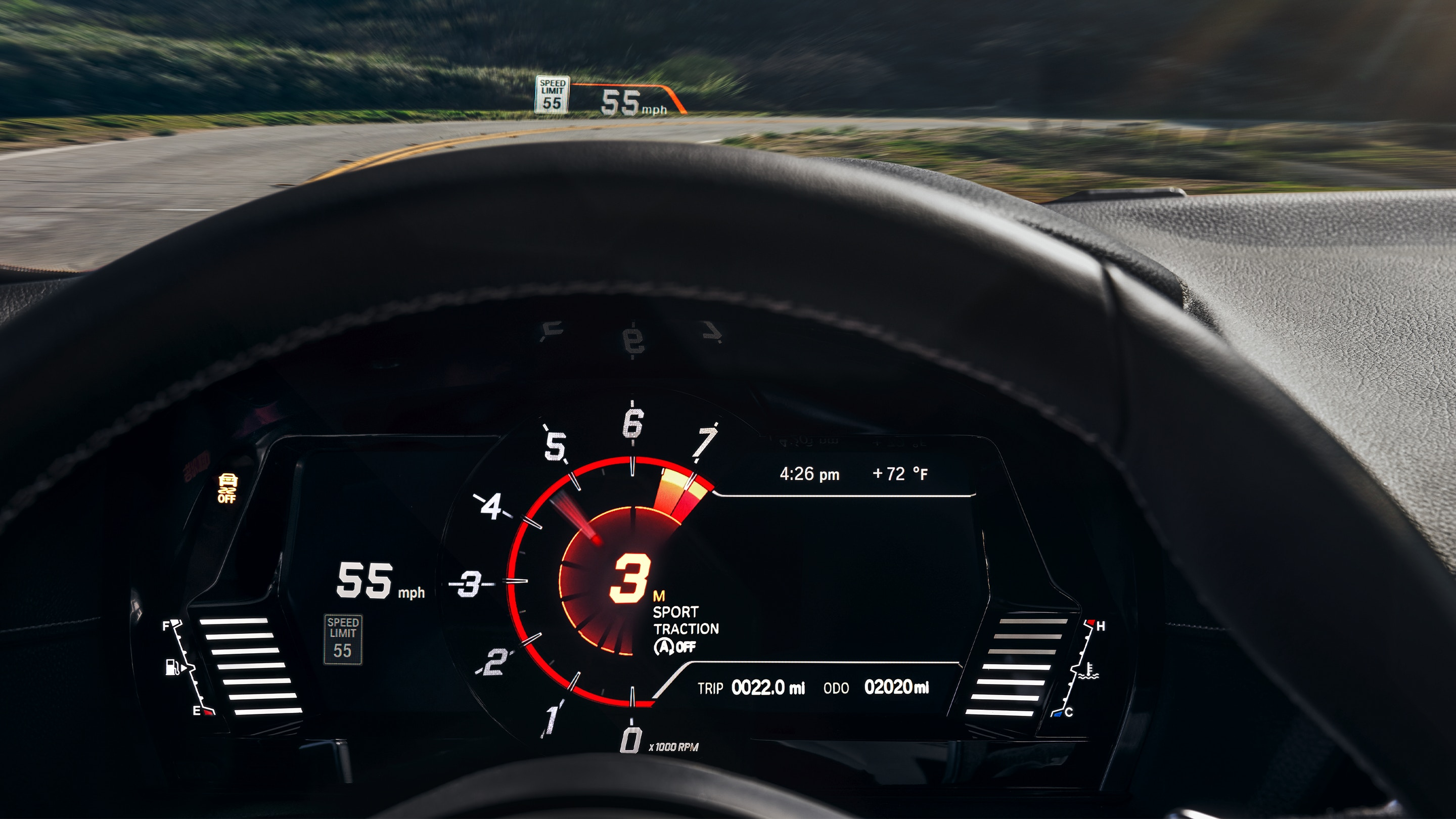 Head Up Display on the 2020 Supra