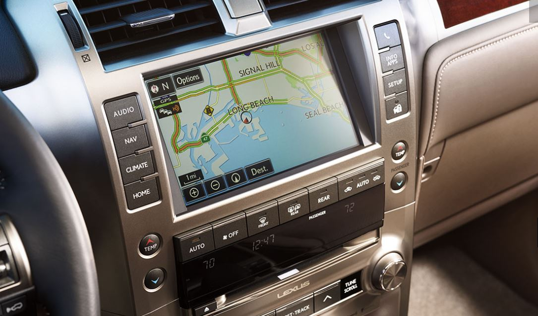 Touchscreen in the 2019 GX 460