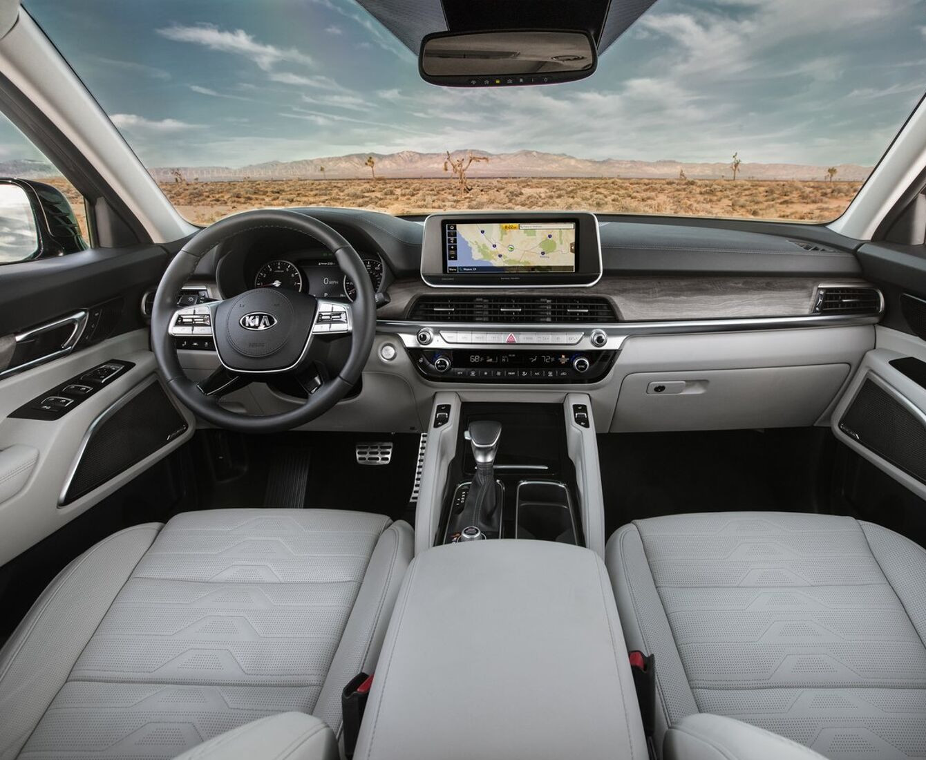 2020 Kia Telluride interior view front cabin