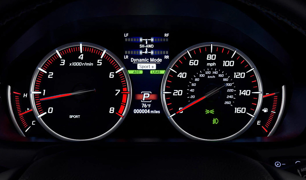 Instrument Cluster in the 2020 Acura TLX