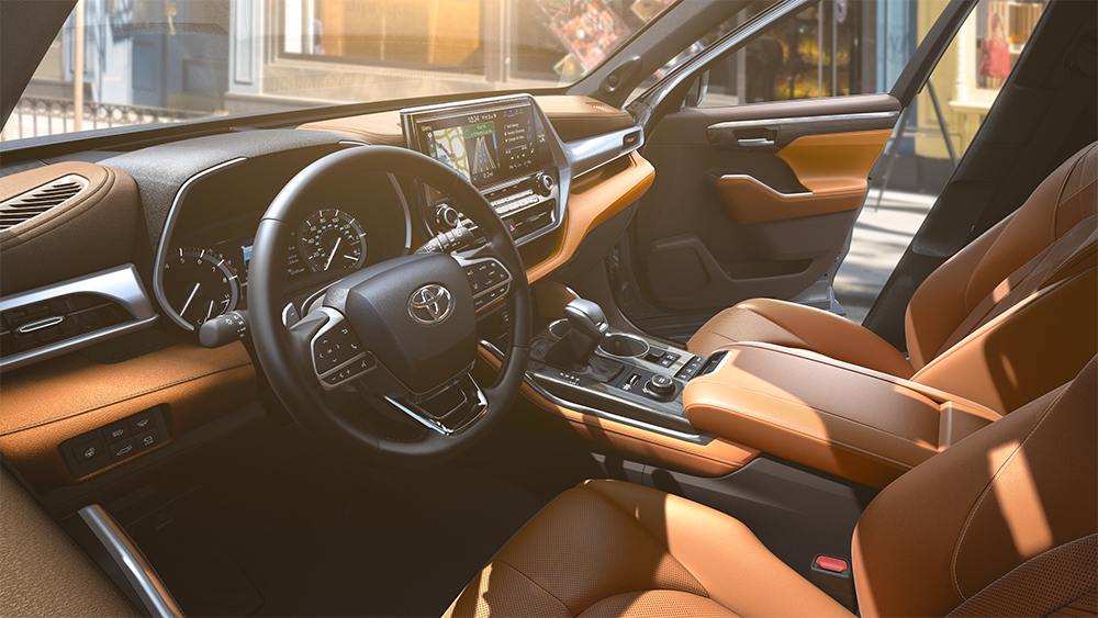 the 2020 Toyota Highlander coming soon to Tri County Toyota of Royersford | The interior of the 2020 toyota highlander