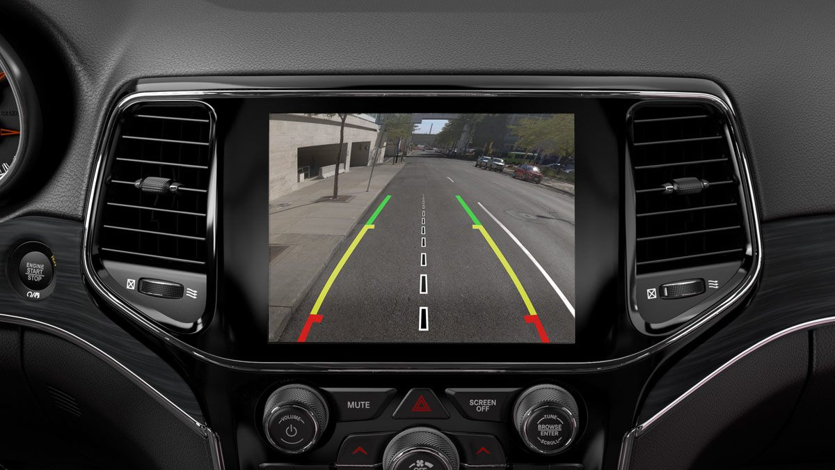 Rear View Camera in the 2020 Grand Cherokee