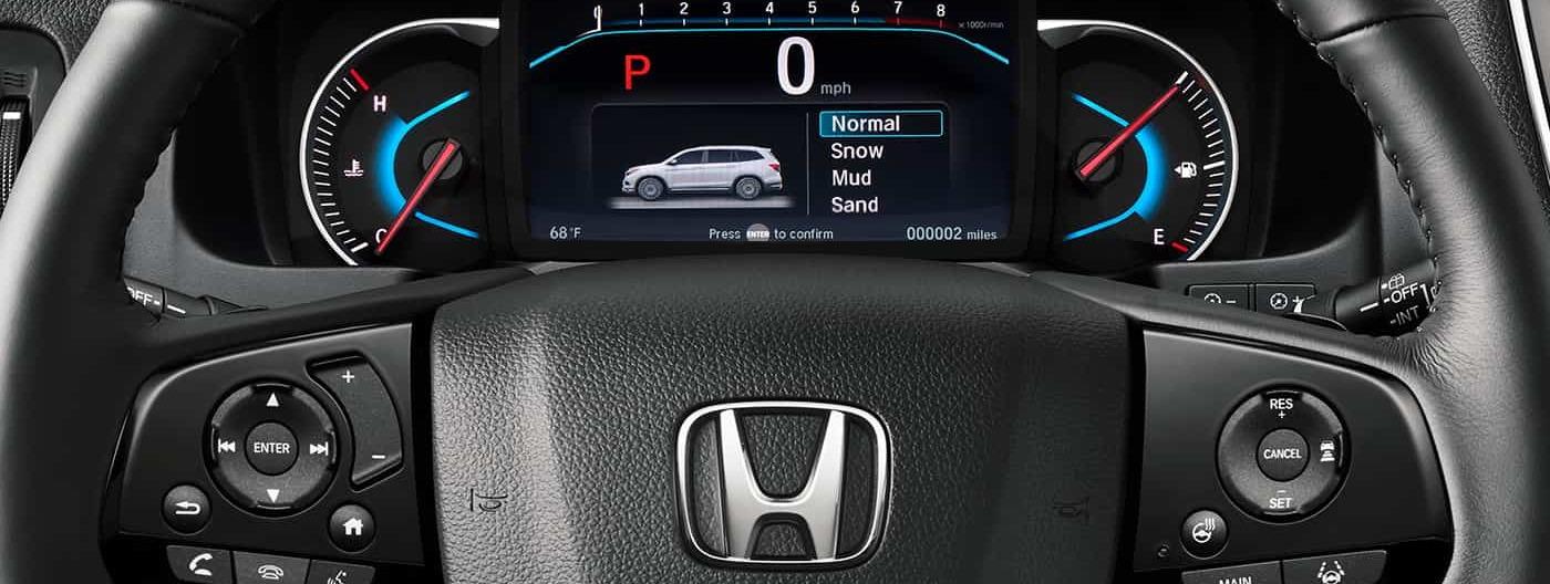 Instrumental of the 2020 Honda Pilot