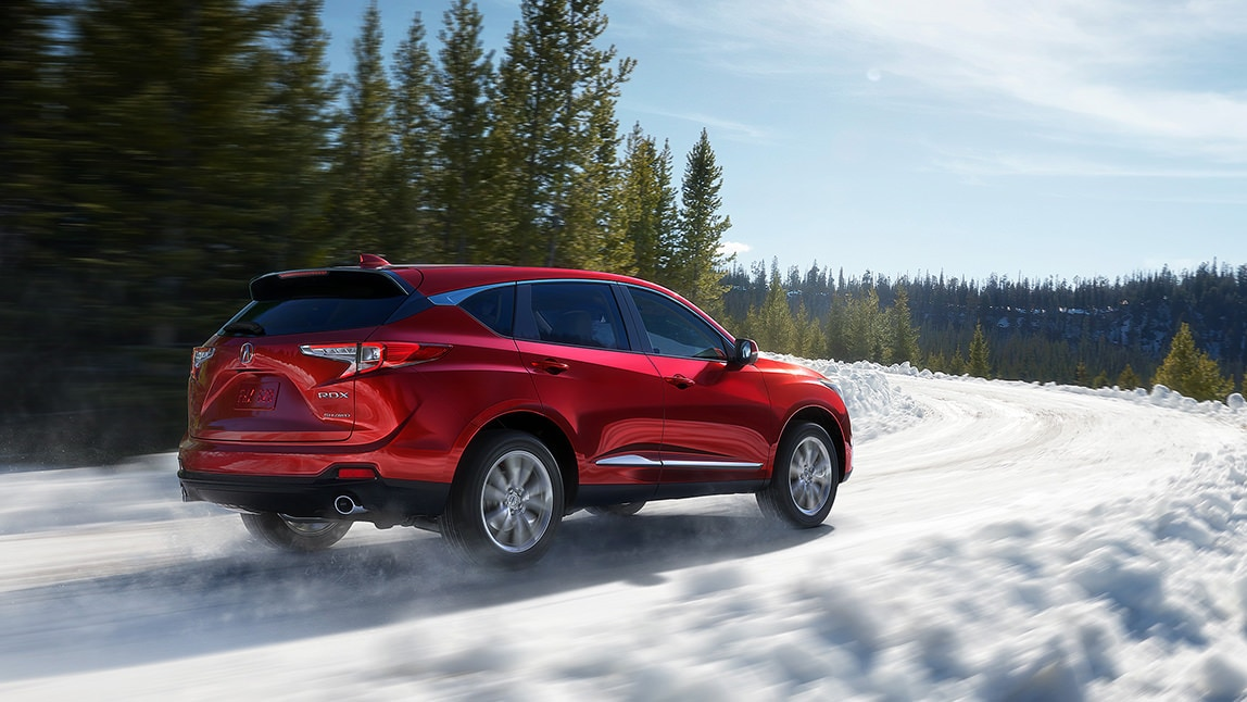 2020 Acura RDX Driving in the snow