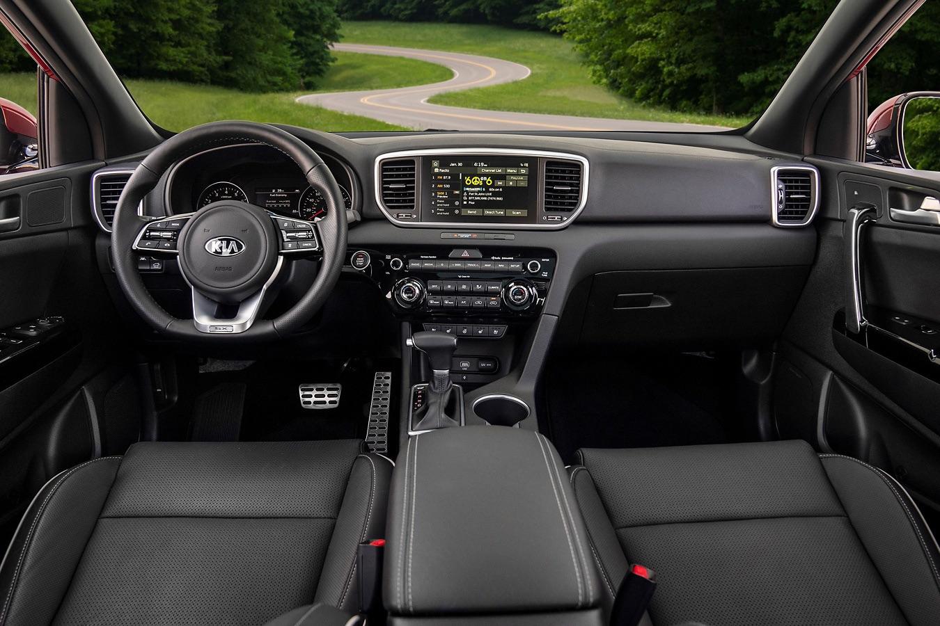 Cómodo interior de la Kia Sportage 2020