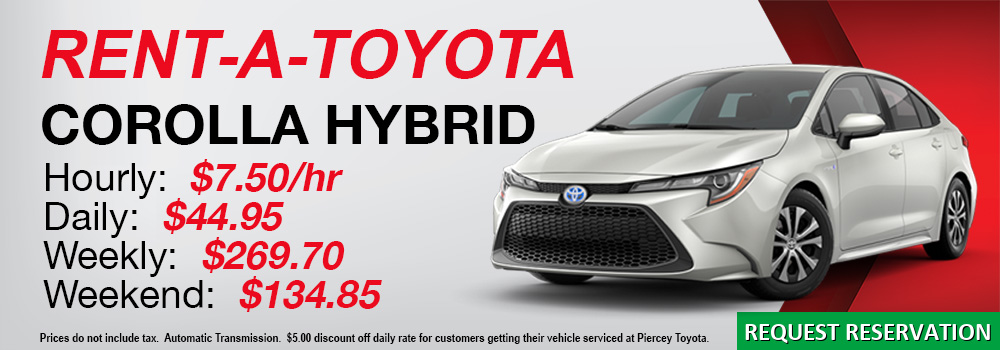 Rent a Toyota Corolla Hybrid