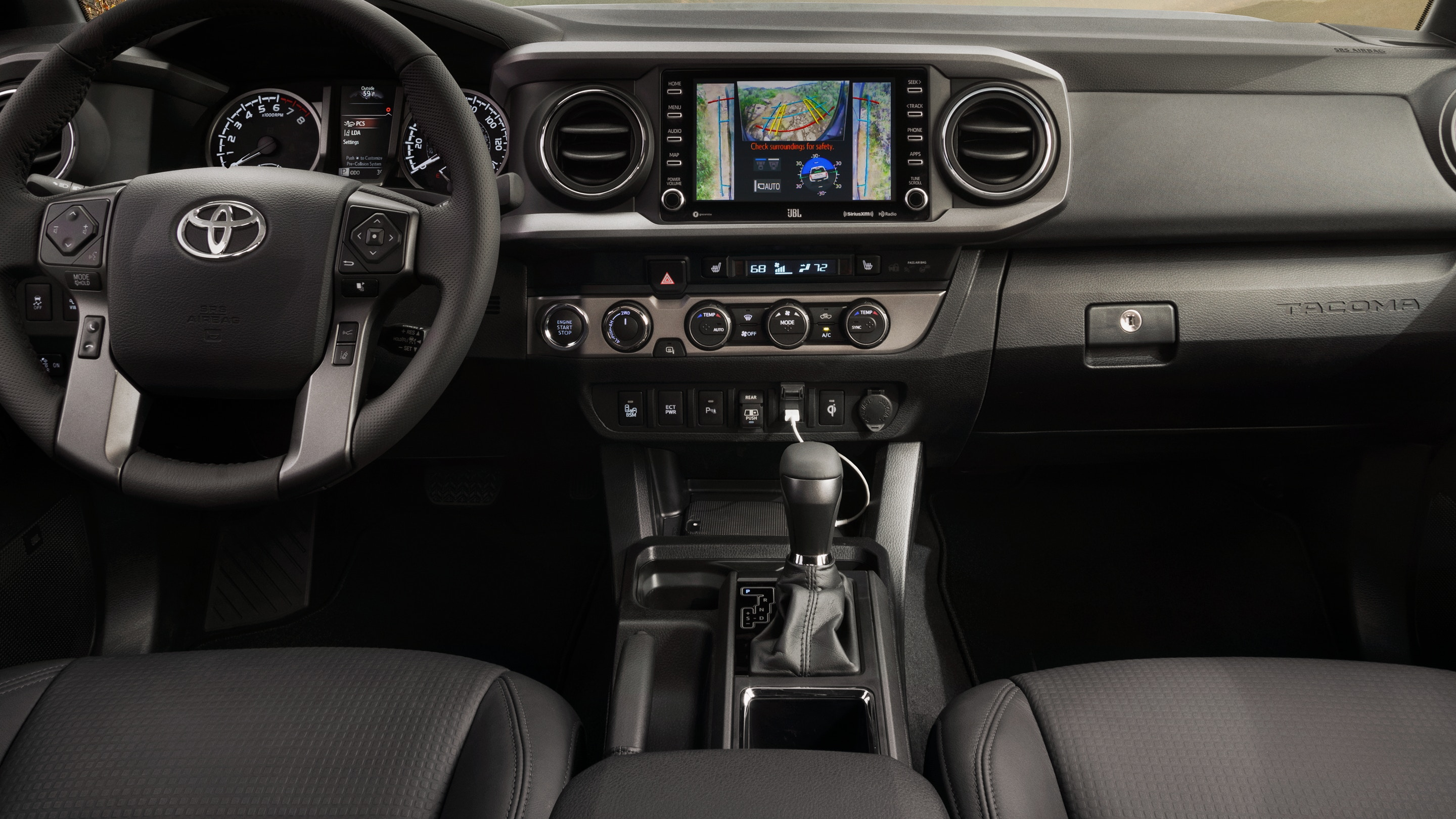 Interior of the 2020 Tacoma