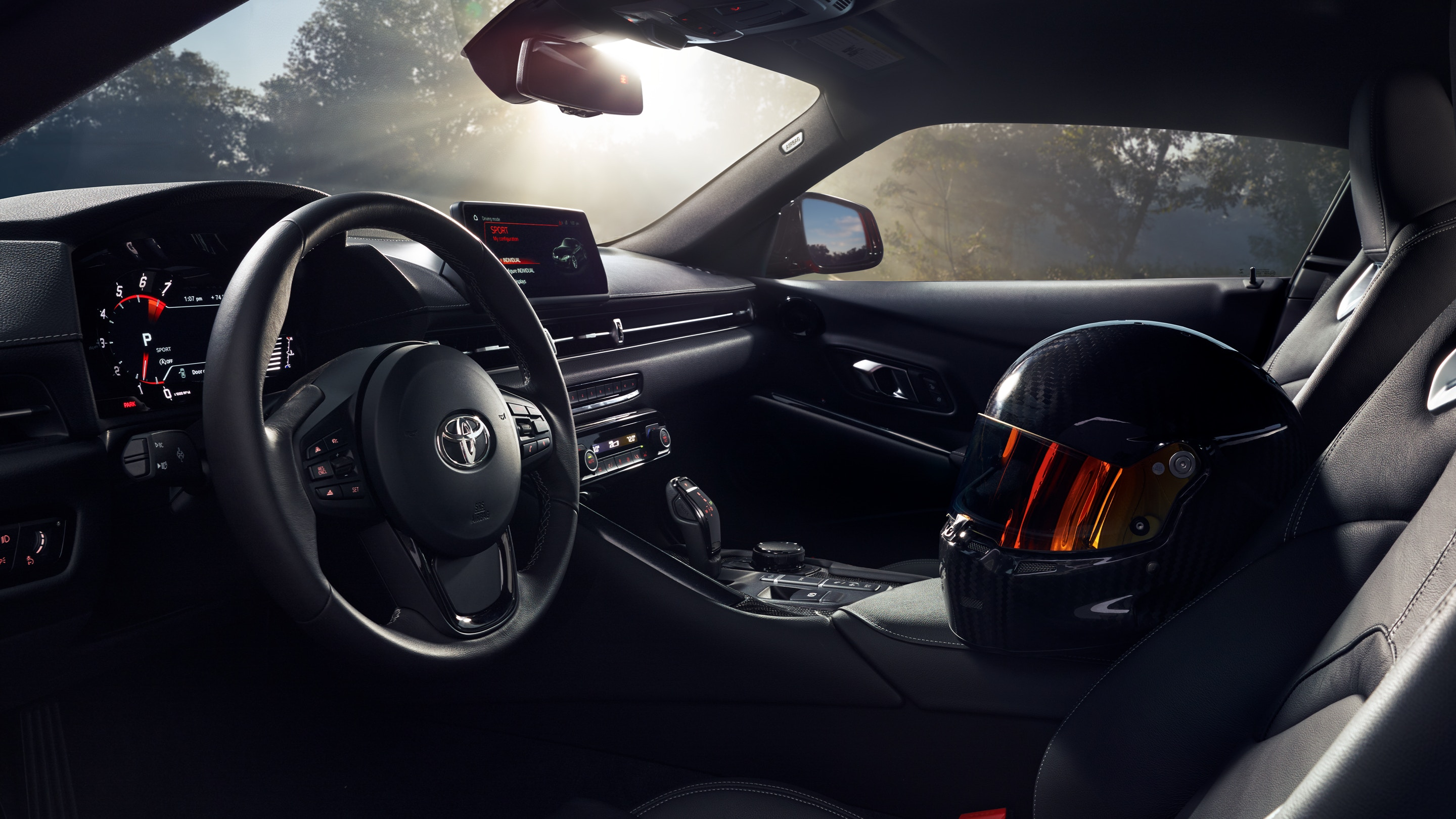 Interior of the 2020 Supra