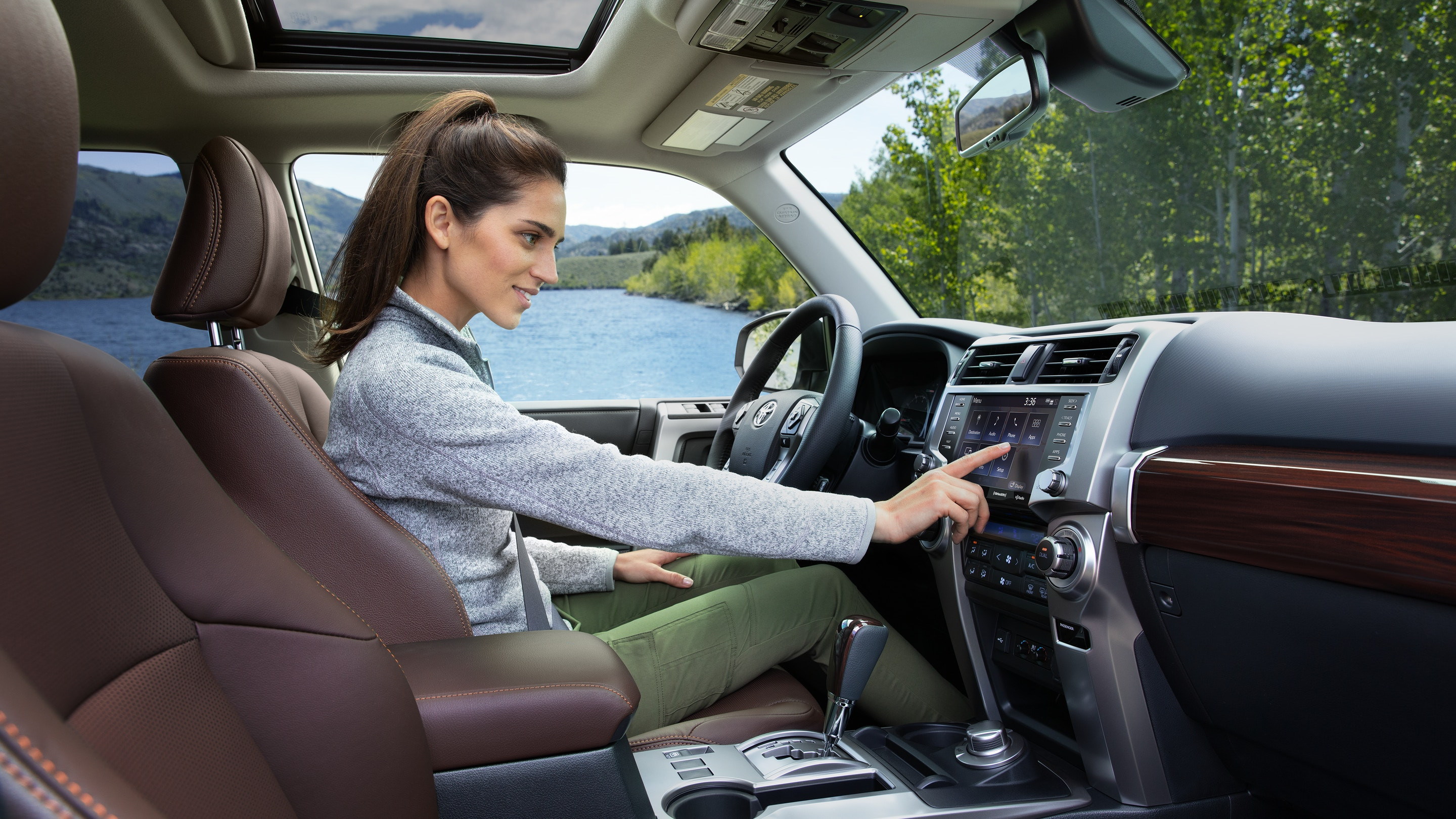 Interior of the 2020 4Runner