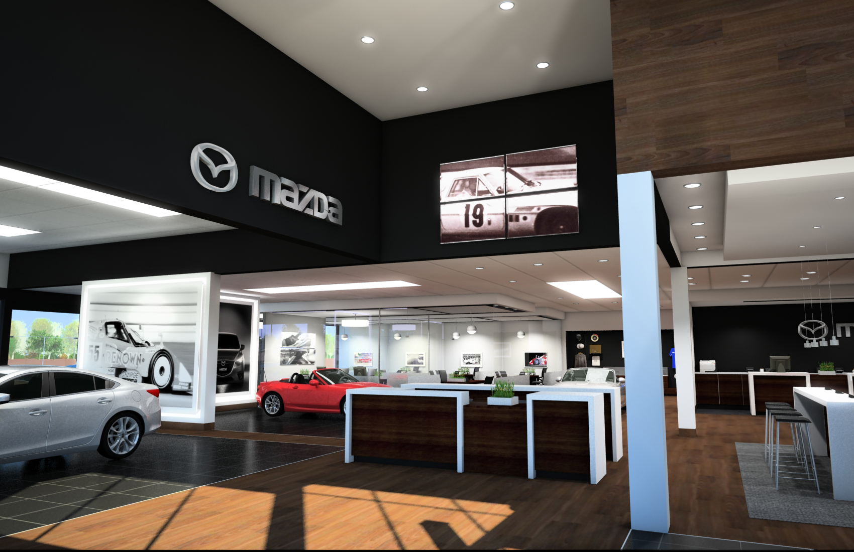 Mazda Retail Evolution Showroom Example