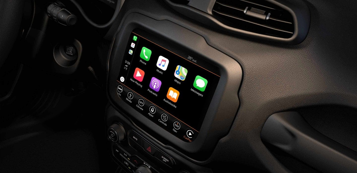Touchscreen in the 2019 Renegade