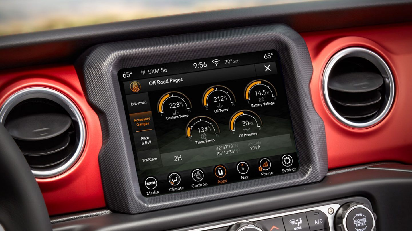 Touchscreen in the 2020 Gladiator