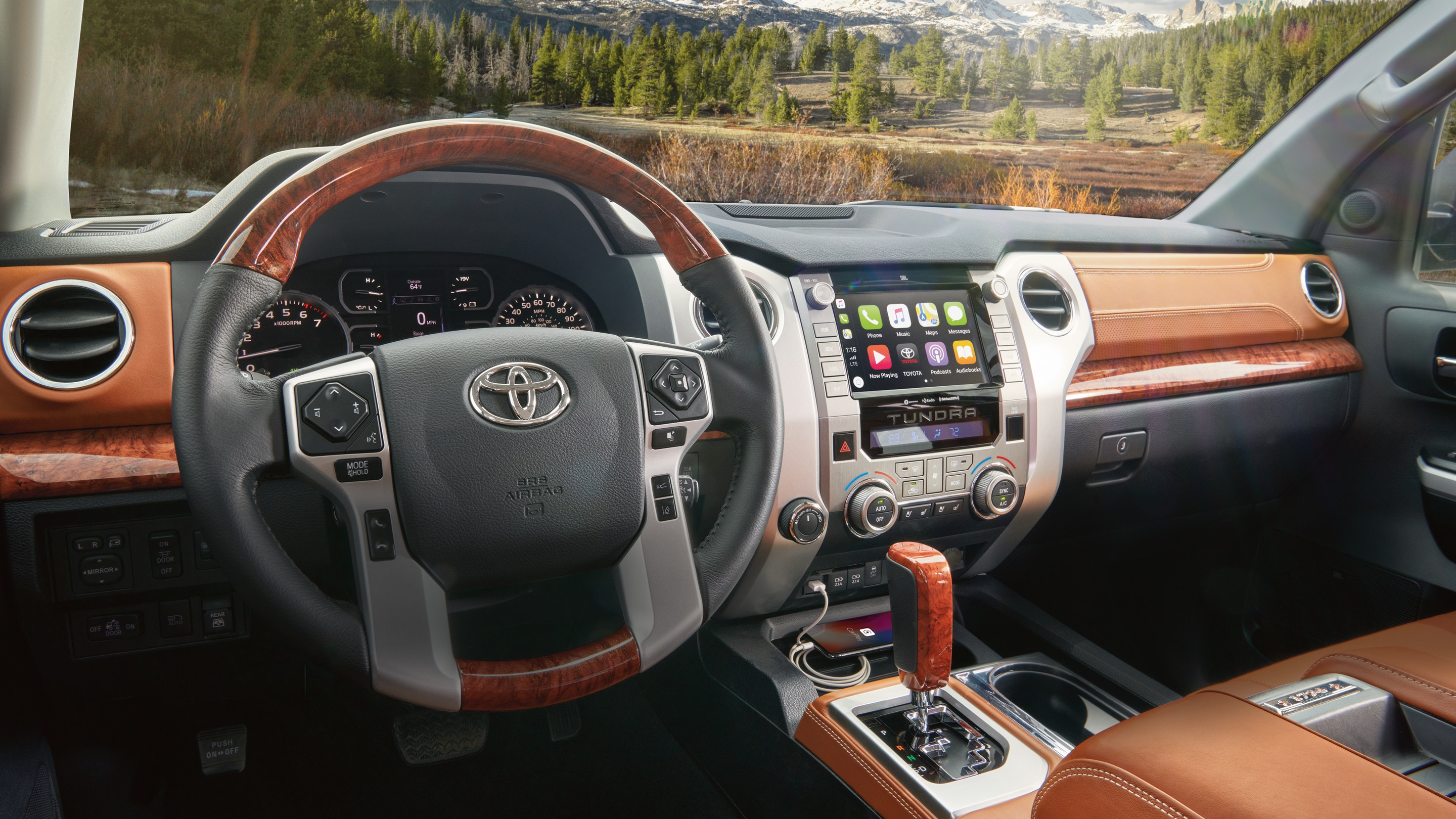 Interior of the 2020 Tundra