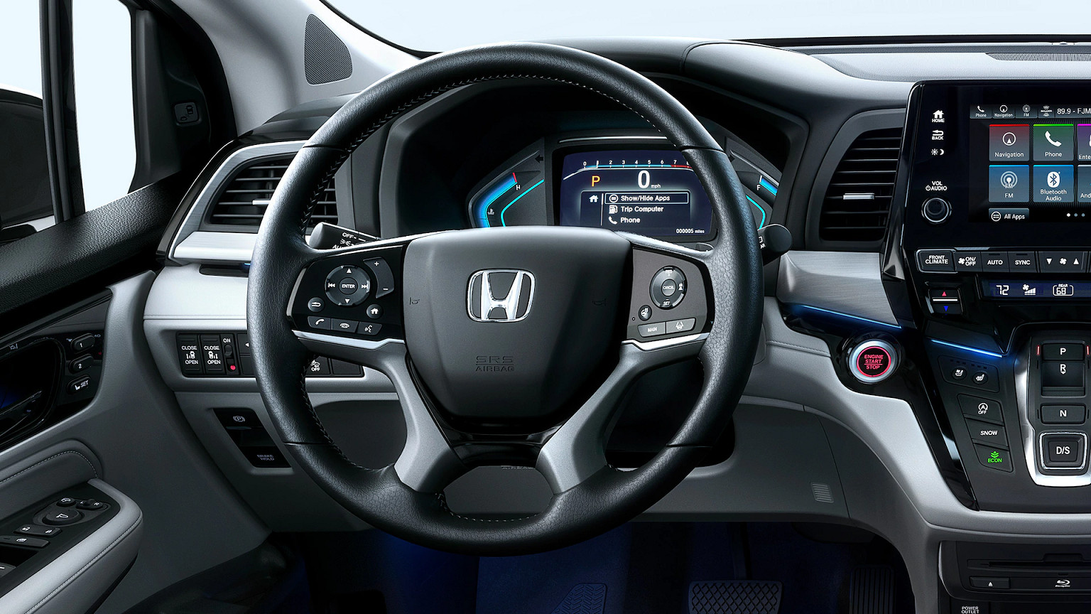 Steering Wheel of the 2020 Honda Odyssey