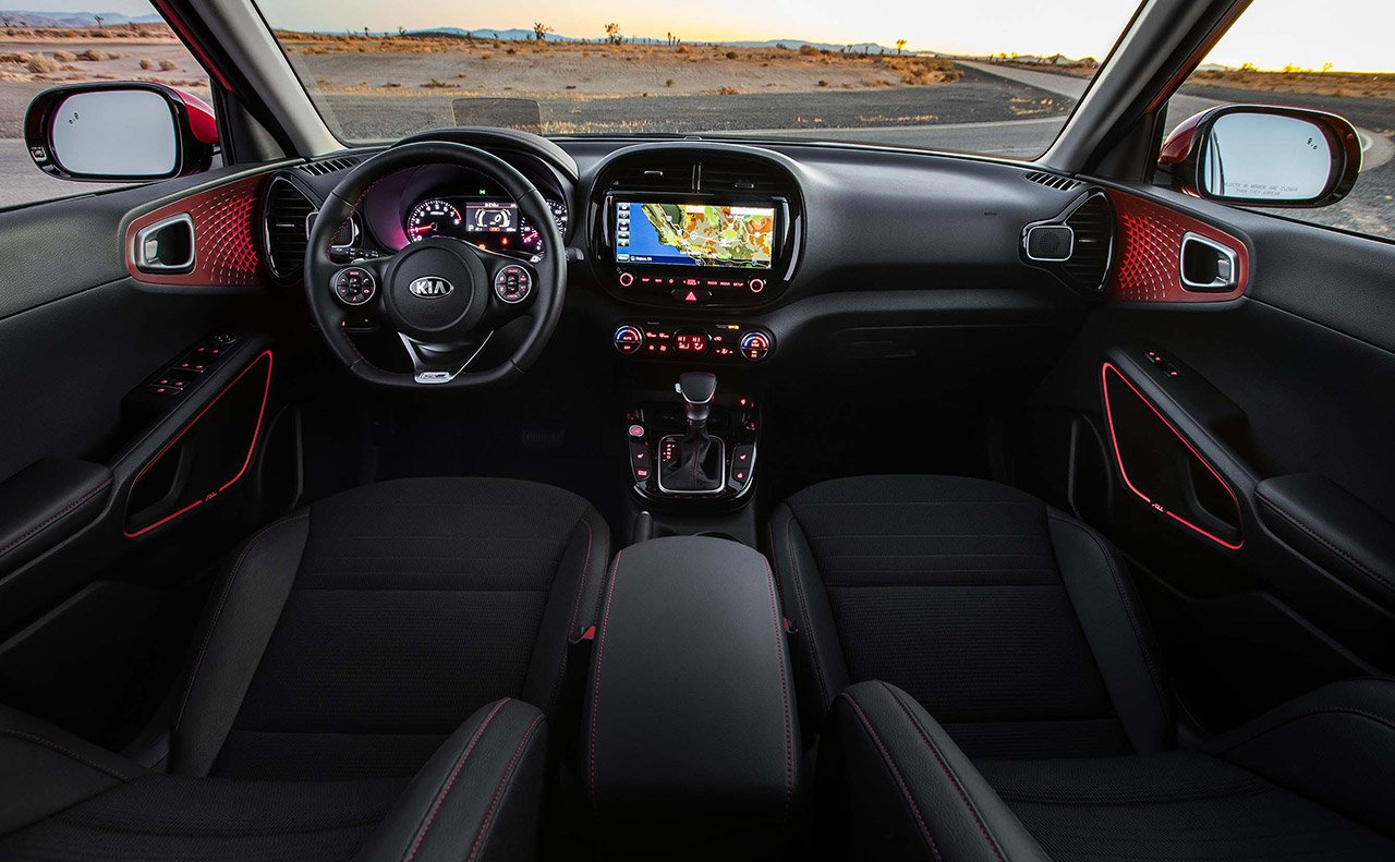 Interior of the 2020 Kia Soul