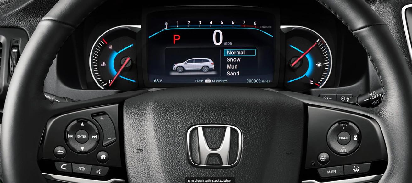 2020 Honda Pilot Driver Console