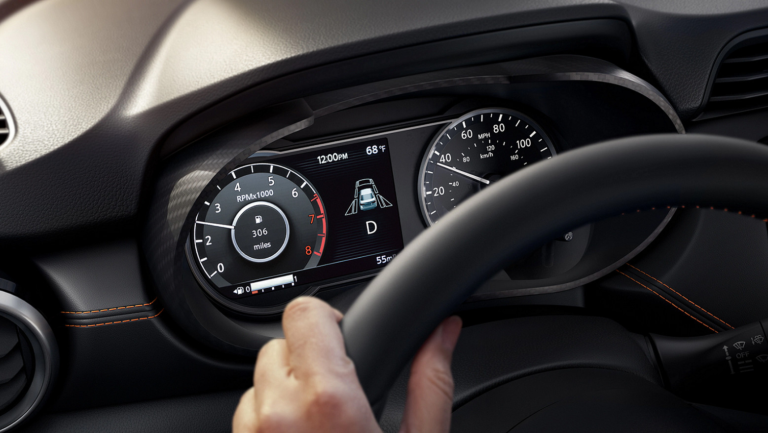 Instrumentation Panel of the 2020 Nissan Versa