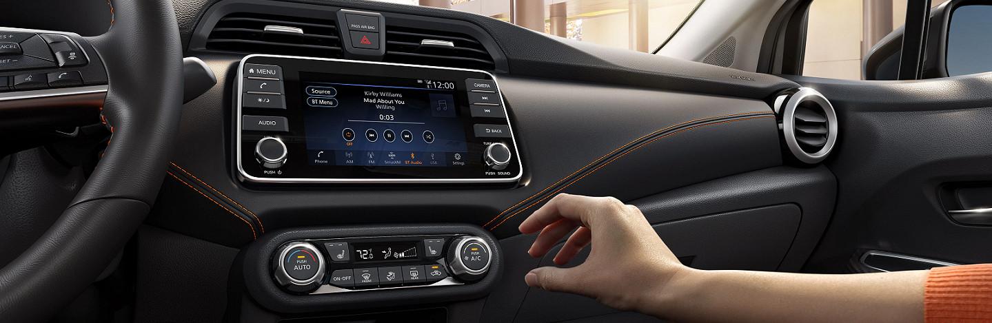 Touchscreen in the 2020 Nissan Versa