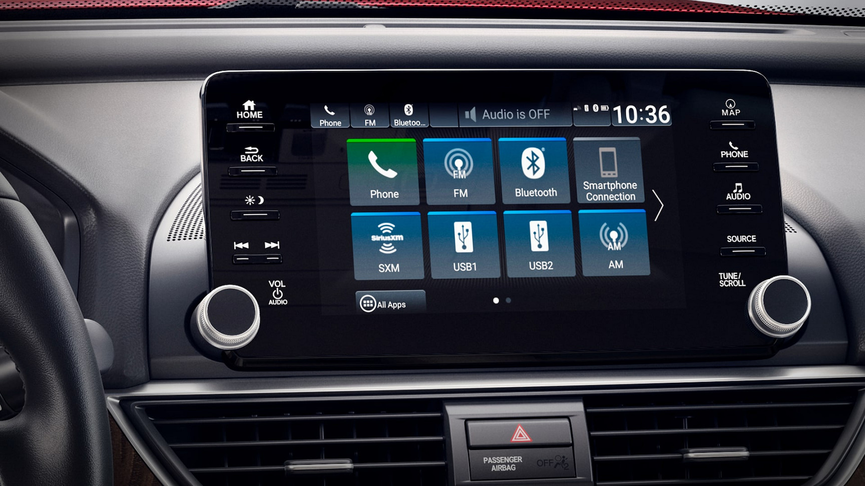 Touchscreen Display in the 2020 Honda Accord