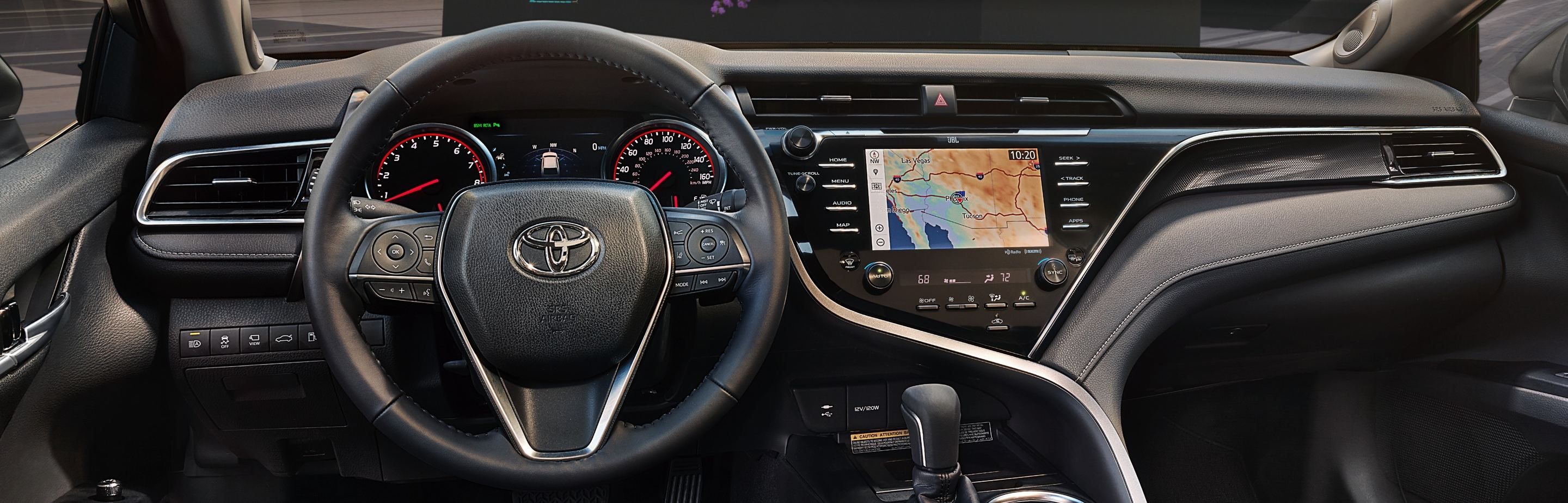 Driver's View of the 2019 Toyota Camry