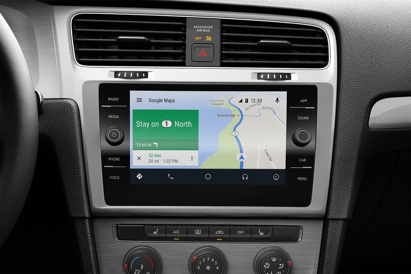Touchscreen in the 2019 Golf