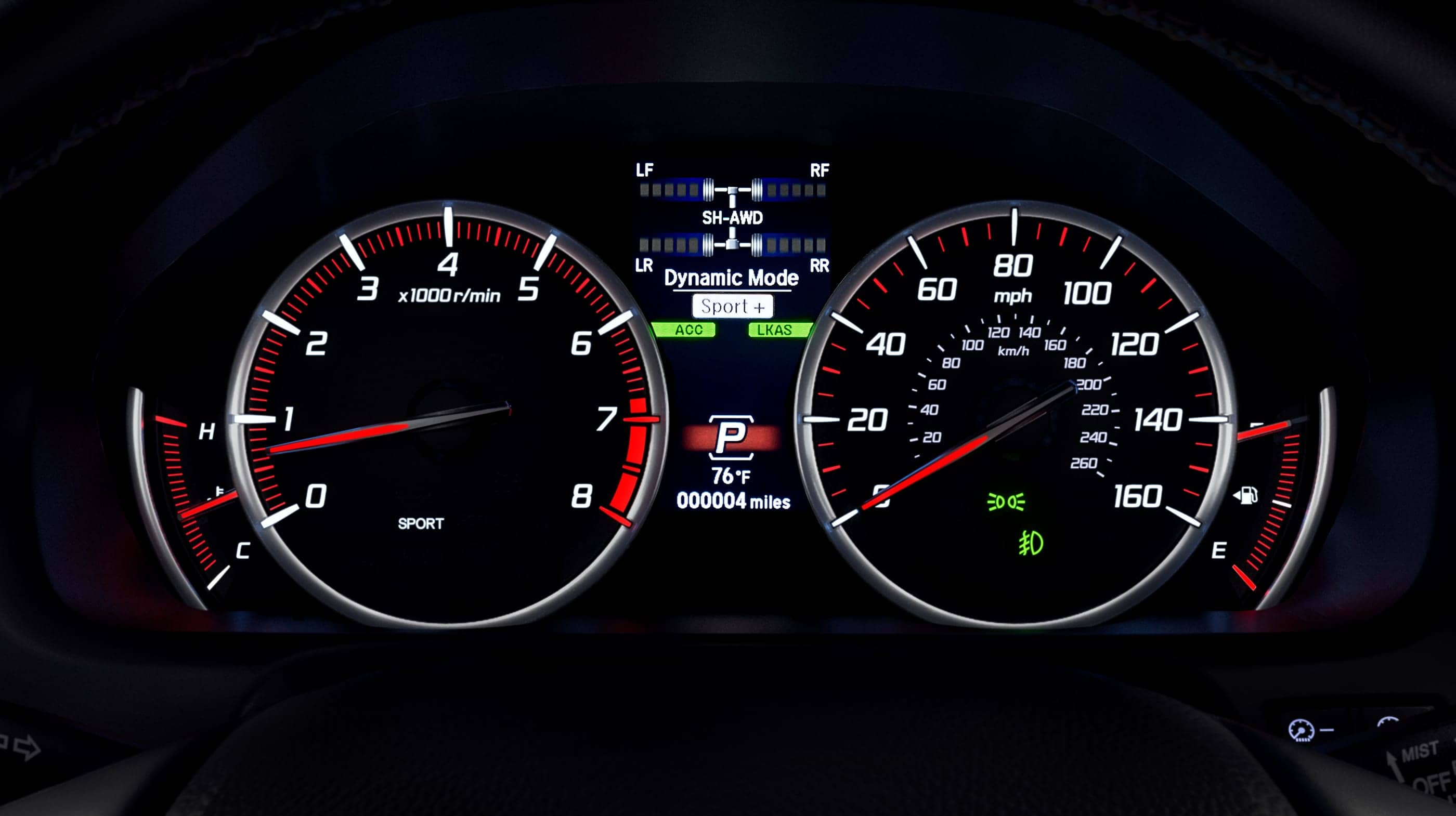 2020 TLX Instrument Cluster