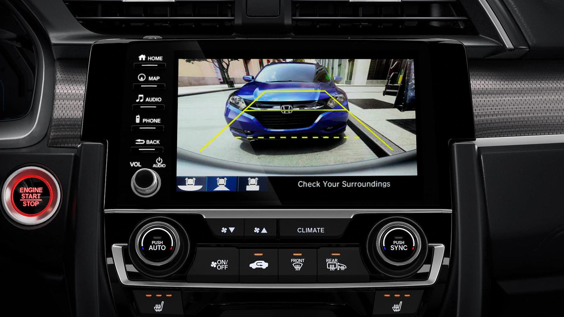 2020 Civic Multi-Angle Rearview Camera