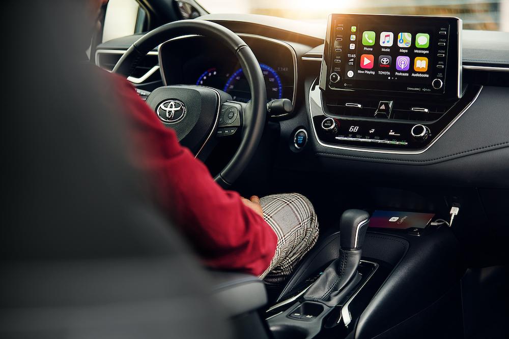 Compare the 2020 Honda Civic Sedan vs. the 2020 Toyota Corolla at Tri County Toyota of Royersford | The interior of the 2020 Corolla
