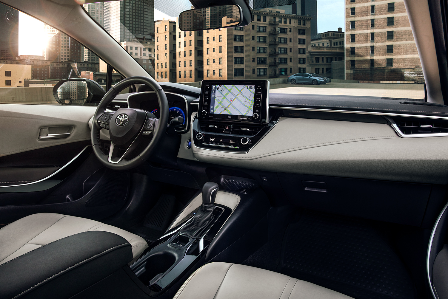 Model Features of the 2020 Toyota Corolla at Tri County Toyota in Royersford | The interior of the 2020 Corolla Hybrid